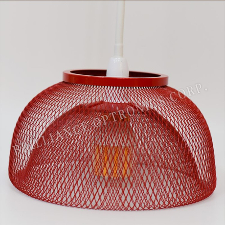 7W LED Warm White Bulb with Bowl Metal Mesh