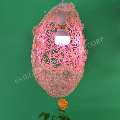 LED ceiling grow lights with knitted lampshade